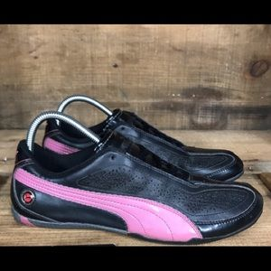 Puma athletic shoes pink & black